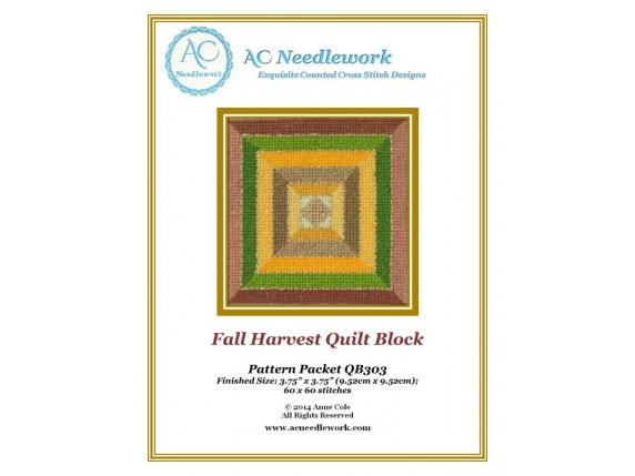 pattern cover fall harvest cross stitch