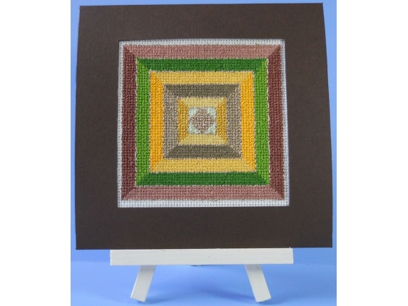 matted in deep brown greeting card