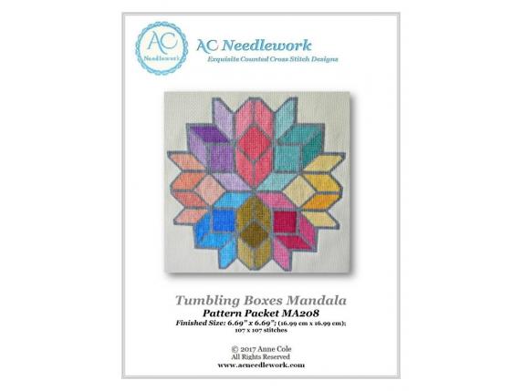 Tumbling Boxes Mandala Pattern Cover