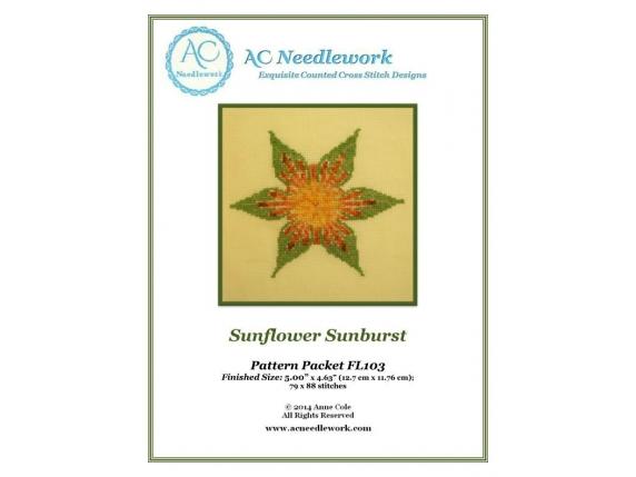 pattern packet cover sunflower sunburst