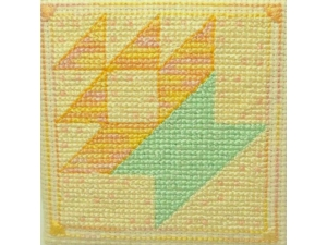 finished view basket quilt block pattern