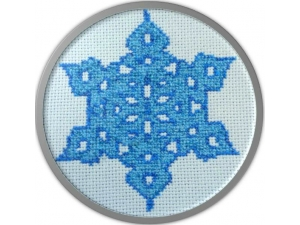 Electric Blue Snowflake  $3.00