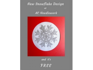 2016 -  New Snowflake Design at AC Needlework and It's FREE