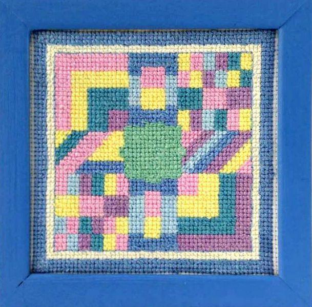 Crazy Quilt Block Counted Cross Stitch Pattern ACNeedlework