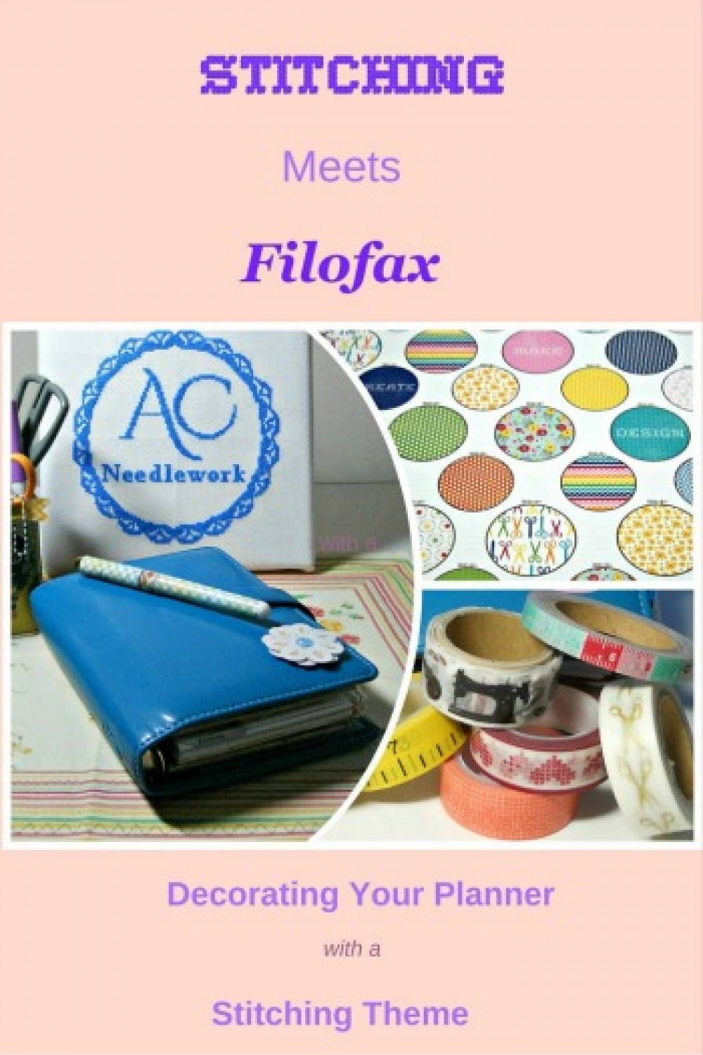 Stitching meets filofax decorating your planner with a for Planner decorating blogs