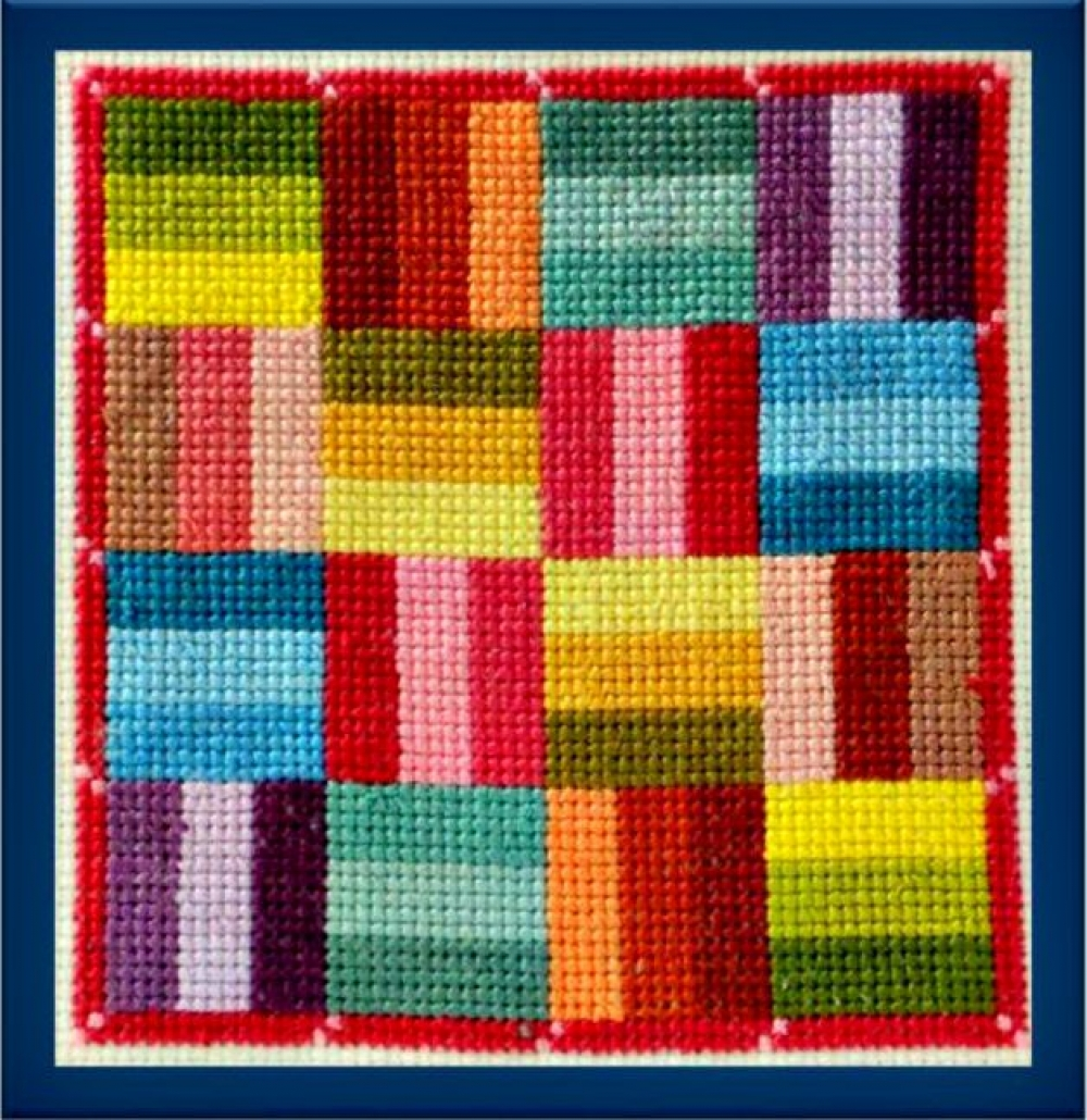 Roman Square Quilt Block Counted Cross Stitch Pattern ACNeedlework