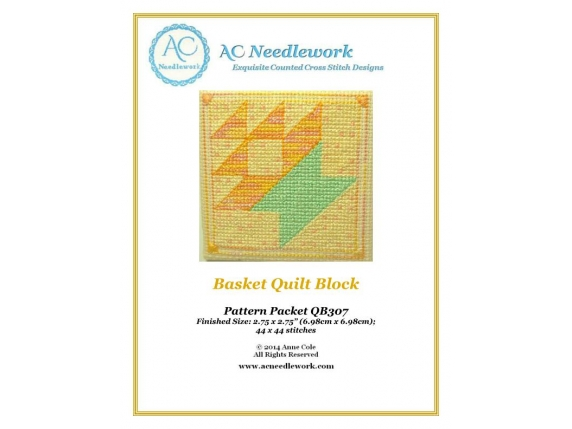 cover sheet quilt basket cross stitch pattern