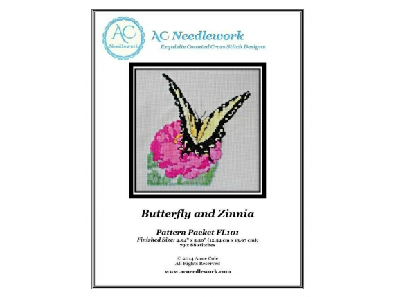 Butterfly and Zinnia  $7.00