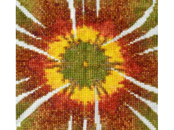 yellow and brown center sunflower mandala