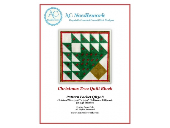 cover sheet christmas tree quilt block