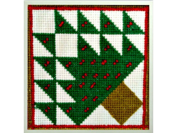 Christmas Tree Quilt Block Counted Cross Stitch Pattern