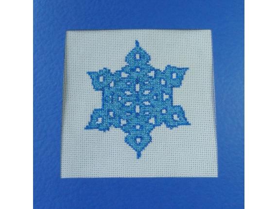 electric blue snowflake card
