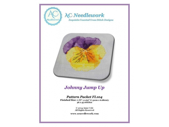 pattern cover for Johnny Jump Up counted cross stitch design