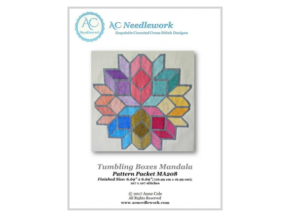 Tumbling Boxes Mandala Pattern Cover