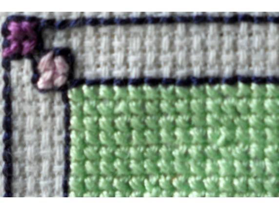 border close up roman stripes