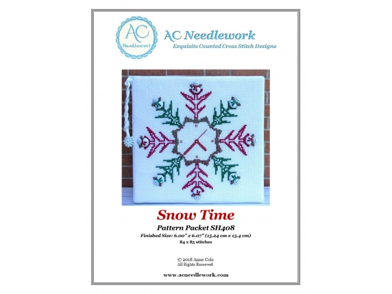 pattern cover SH 408 Snow Time Counted Cross Stitch Pattern