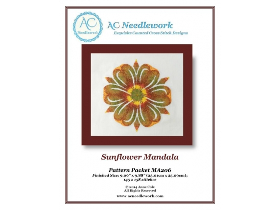 pattern cover sunflower mandala