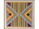 framed view of Stripes and Triangle Quilt Block Pattern