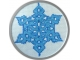 Electric Blue Snowflake  $3.00