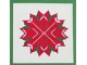 Red Poinsettia Star Counted Cross Stitch Pattern $5.00