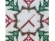 close up clock center SH 408 Snow Time Cross Stitch Pattern