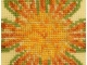 center close up sunflower sunburst stitched design