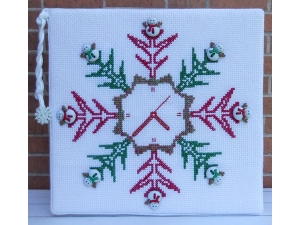 SH 408 Snow Time Counted Cross Stitch Pattern  PDF Instant Download