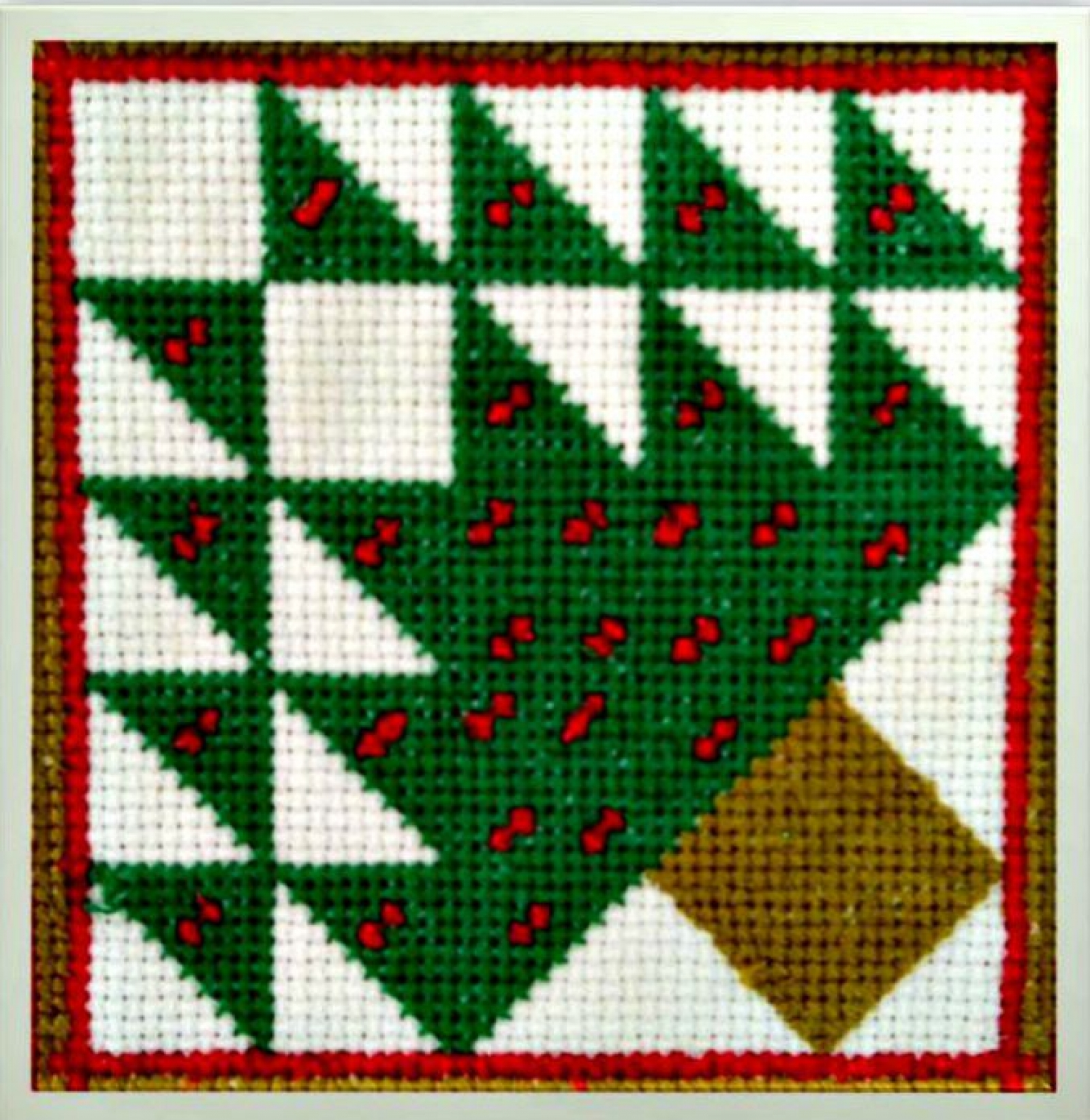 Free Printable Christmas Ornament Cross Stitch Patterns.Christmas Tree Quilt Block Counted Cross Stitch Pattern Pdf Instant Download