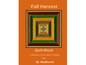 2016 Celebrate Fall by Cross Stitching This Fall Harvest Quilt Block