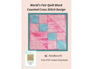 World's Fair Quilt Block Counted Cross Stitch Design